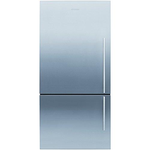 Fisher & Paykel E522BLXFD4 24156 79cm Wide Flat Door Left Hand Hinge Freestanding Fridge Freezer EZKleen Stainless Steel