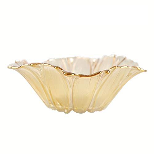 Obstschale Glas Obstschale Haushalt Wohnzimmer Einfach Kreative Obstteller Modern Europäischen Stil Kristall Obstkorb Obstteller (Farbe : D, größe : 31cm)