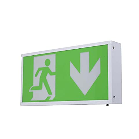 Generic LED Exit Sign Emergency Light Fire Exit Arrow Down Sign Combo With Rechargeable Battery BackUp Safety Exit Signs Escape Direction First Aid