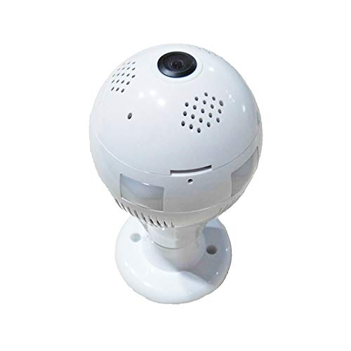 XHC Wifi IP Camera Home Security Camera, DTS-T3 1 44mm Lens 1 3 Megapixel  360 Degree Light Bulb Infrared IP Camera, Support Motion Detection & E-mail