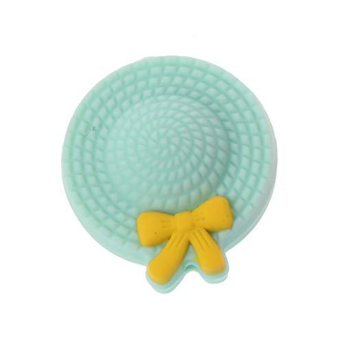 n, Mini-Hut, Beißring, Silikon-Perlen, BPA-frei, DIY Schnullerkette, Perlen, Teathing Toy Silikon Beißring Großhandel - grün ()