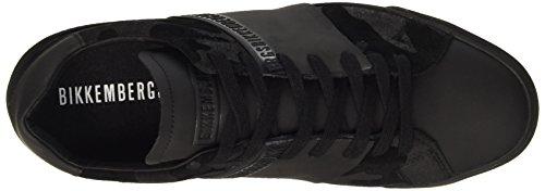 BIKKEMBERGS Herren Rubb-Er 748 Low Shoe M Suede Pumps Nero (Camouflage Black)