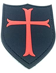 Crusader Croix Noire PVC Airsoft Moral Patch
