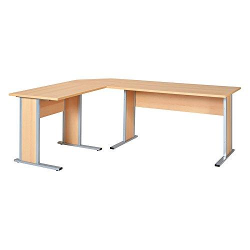 Schomburg Büromöbel SERIE4000 - (Buche braun, Eck-Schreibtisch)