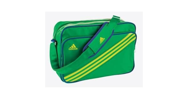 9cb3ca689c58 Adidas Enamel Stripe Messenger Bag - Green with 1 external pocket ...