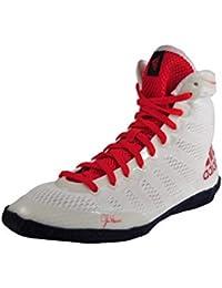 Adidas Adizero Zapatos de Lucha Varner 14, Core White/Scarlet/Collegiate Navy, M18728