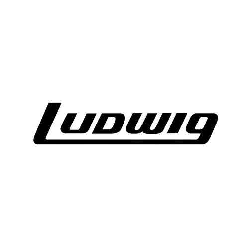 Ludwig av8042Bass Drum Aufkleber, Schwarz auf Transparent