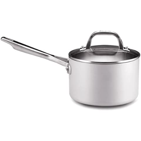 Anolon Chef Clad Stainless Steel 3-Quart Covered Saucepan by Anolon