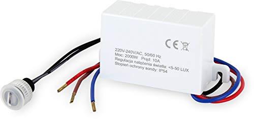 Einbau Mini Dämmmerungssensor IP54 - LED geeignet 1W-2000W - Aussen Dämmerungsschalter