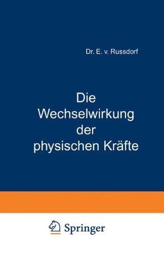 Die Wechselwirkung der physischen Kr????fte (Advances in Applied Neurological Sciences) (German Edition) by W.R. Grove (2013-10-04)