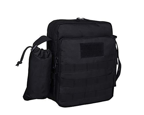 Fjiujin,Umhängetasche Tablet-Tasche Outdoor-Freizeit Umhängetasche Kettle Bag(color:Schwarz)