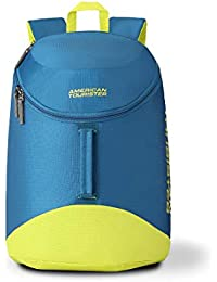 American Tourister Scamp 19 Ltrs Blue/Yellow Casual Backpack (FI4 (0) 01 001)