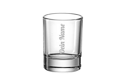 SNEG Schnapsglas (Stamperl) mit Textgravur - 4cl - Namensgravur