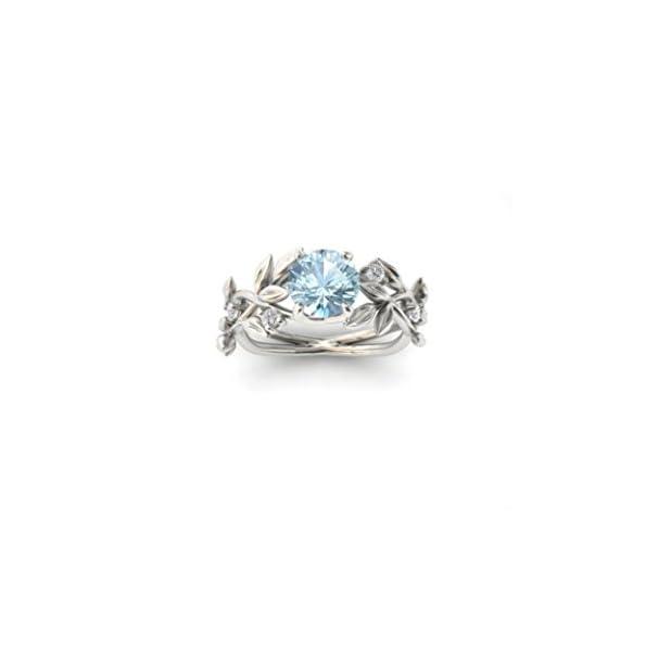 Damen Ring, HUIHUI Silver Blumen-Weinblatt Diamant Ring Engagement Ringe Prinzessin O-Ringe für Damen Mädchen