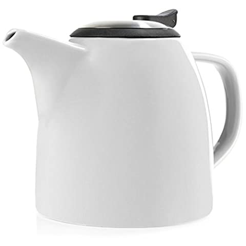 Tealyra - Drago Ceramic Teapot - 1100ml (5-6 cups) - Large Stylish High-Fired Ceramic Teapot with Stainless Steel Lid and Extra-Fine Infuser To Brew Loose Leaf Tea - Dishwasher-safe - BPA Fre -