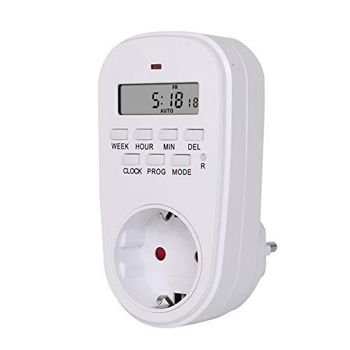 Timer Outlet Multifunktions Programmierbare Plug in Digital Timer Schalter für Haushaltsgeräte Extra große LCD Anzeige Programmierbare Einstellungen EU Stecker Homedekor