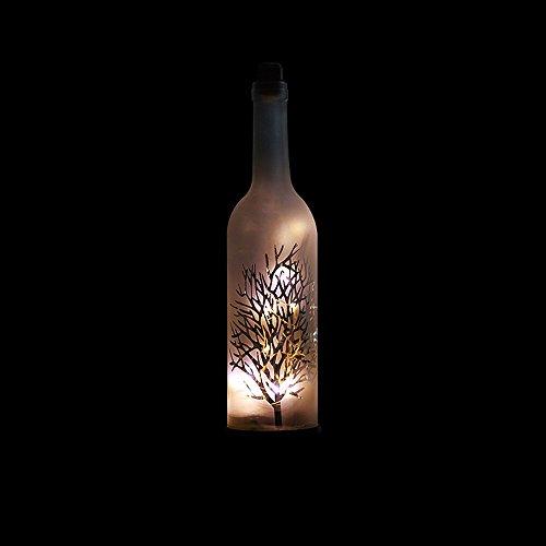 Nuit Lumière Rétro Feu Arbre Argent Fleur Ciel Bouteille De Vin Ambiance LED Cabinet Xuan Guang Lumière Chambre Romantique Atmosphère Bouton Nuit Lumière Lumière Douce Chaud Lumière Firefly Lumière