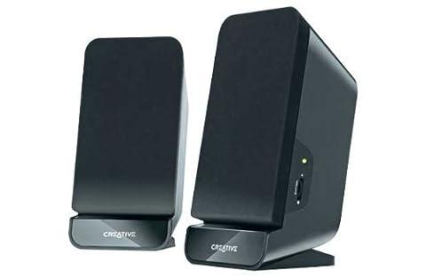 Creative 51MF1635AA000 PC-Lautsprecher A60 2.0 Stereo, 3,5 mm, 2W RMS schwarz (Pc Stereo Lautsprecher)
