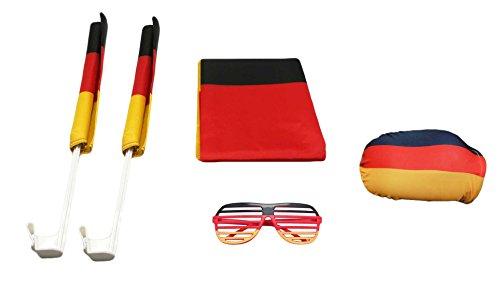 made2trade Fanartikel Set WM 2018 Deutschland 6 Teiliges Fantartikel Set zur Weltmeisterschaft