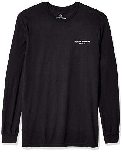 Rip Curl Herren Rays & Waves Heritage Long Sleeve T-Shirt, schwarz, XX-Large -
