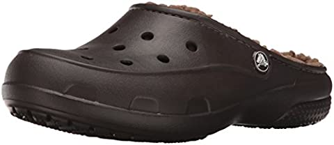 crocs Freesail PlushLined Clog, Damen Clogs, Braun (Espresso 206), 37/38 EU (5 Damen UK)