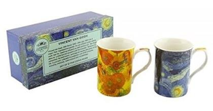 Set of 2 Van Gogh Fine Bone China Mug Set