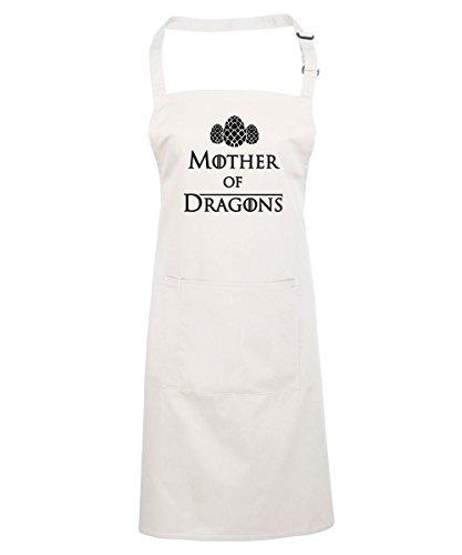 Madre de Dragones delantal, juego de tronos Daenerys Targaryen inspirado impreso delantal, regalo para día de la madre juego de tronos aficionados