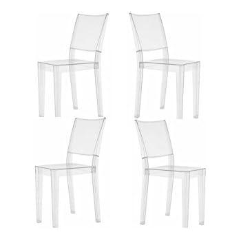 Offerta 4 sedie LA MARIE Kartell trasparente: Amazon.it: Casa e cucina
