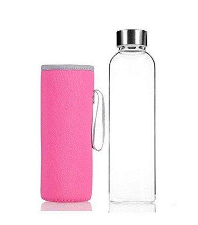LAAT Botella de vidrio Botella deportiva Botella transparente con bols
