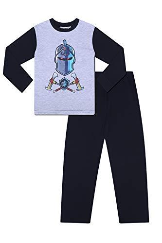 Epic Games Fortnite - Pijama para niños (algodón), diseño de Caballero Negro Negro (13-14 Años