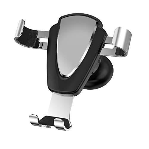ZYNENMetall Handy Halterung Auto Outlet Schwerkraft Sensing Auto Halterung für iPhone Xr, Xs, X, Samsung Hinweis 9, S9, Huawei, Sony, HTC,Silver -
