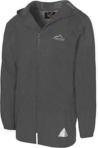 normani Leichte Windjacke/Regenjacke im Beutel, Unisex - Erwachsene Farbe Grau Größe 2XL