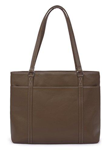 Overbrooke classico di borsa–Tracolla da donna in pelle vegan per PC portatili fino a 39,6cm marrone Dark Brown L