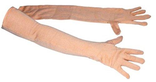 Men\'s Full Hand Summer Gloves For Protection From Sun Burn/Heat/Pollution (Skin Colour)