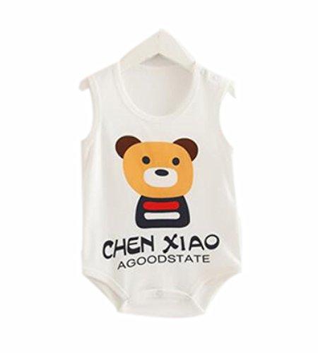 Blancho Bedding Siamese Flaggen Dreieck-Spielanzug Sommerbaby -Kind-Jungen-Mädchen-Bär