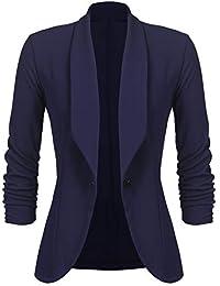 55dc9dc7cb11 UNibelle Femme Veste Blazer Veste De Costume Courte Casual Slim Un Bouton  Noir Kaki