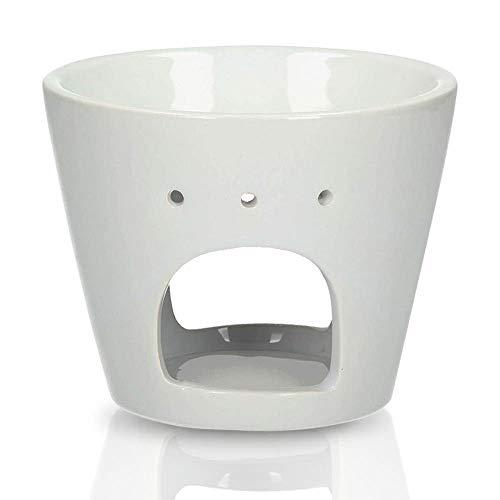 Ceramika Bruciatore - Bianca Lampada per Aroma - Diffusore Ceramica - Lampada Profumata - Bruciatore Aroma - Brucia Essenze - Diffusore a Candela - Aromaterapia - SPA - Yoga - Ø 15cm H 10cm