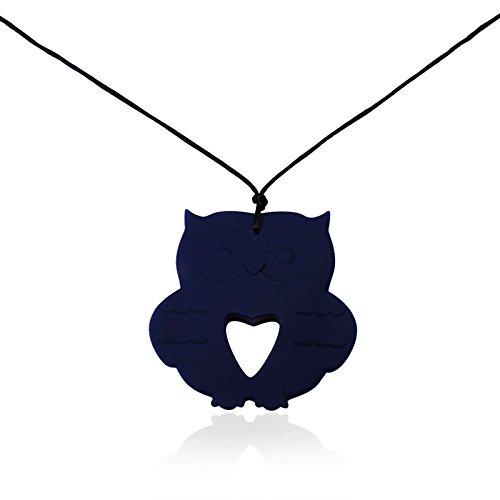 Epinki Mode Zahnpflege Baby Kette Lebensmittelechtes Silikon Zahnen Anhänger Halskette Geometrie Blau Chewelry Mama Kette 80cm