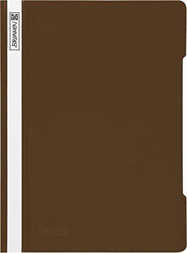 Brunnen 102011079 Schnellhefter (A4, aus PVC, glasklares Deckblatt) braun