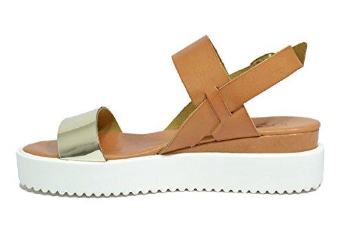 Keys Sandali scarpe donna cuoio 5379 CUOIO/ORO