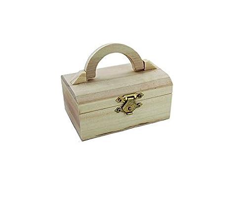 Boîte à mini Commode en bois de mémoire Boîte de rangement à bijoux trésor Peinture Arts Crafts Royaume-Uni par Accessoires grenier
