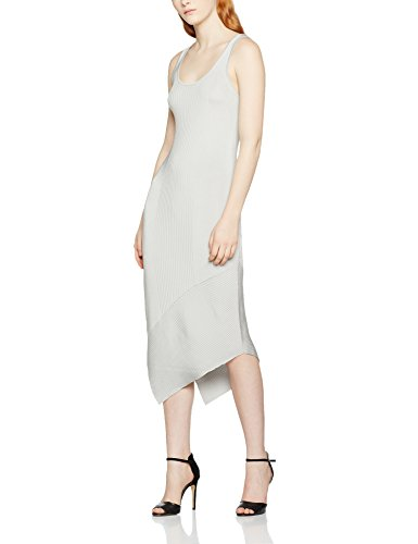 Filippa K Damen Standard-Kleider Shiny Rib Tank Dress Grau (Moon), Small -