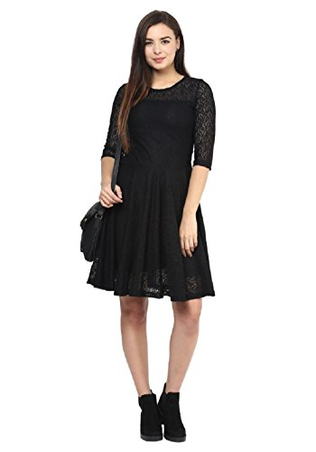 Fashion2Wear Women\'s Stylish Net Latest Casual Designer Western Stitched Dress