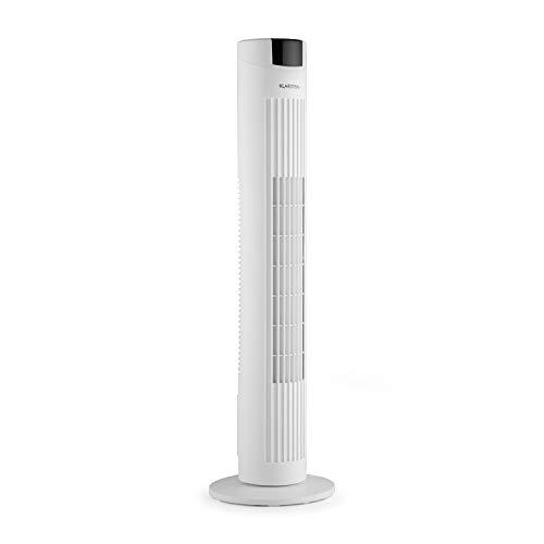 Klarstein Skyscraper 2G • Turmventilator • Standventilator • Säulenventilator • Abschalt-Timer • platzsparend • 3 Geschwindigkeitsstufen • 40 W • Oszillation • 22,5 cm Ø • inkl. Fernbedienung • weiß