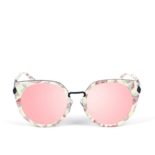 Shiduoli Angeln Fahren Mode Metall Sonnenbrille Sport Polarisierte Sonnenbrille für Männer (Color : White Frame/Pink Lens)