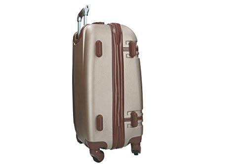 31c9DUui2ZL - Maleta rígida PIERRE CARDIN oro mini equipaje de mano ryanair 4 ruedas VS164