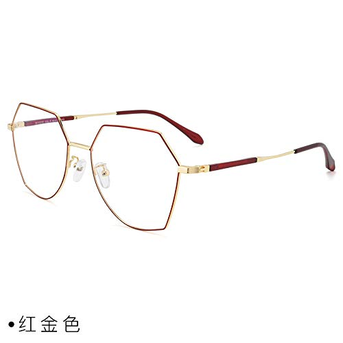 CFLFDC Sonnenbrillen Myopia Glasses Frame Glasses Frauen Net Rot Vegetarisch Yen Xian Gesicht Dünn Mit Myopie-spiegel-rahmen Mann 1,74 (ultradünn) Rotes Gold