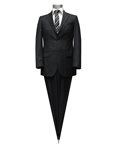 Herrenanzug 2-Knopf Slim-fit/Tailliert Schwarz Lorenzo Muga Schwarz
