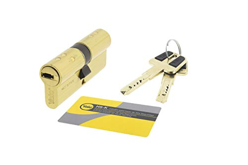Yale,  HSK3040LT, Cilindro de Alta Seguridad, 30 x 40 mm, Latonado