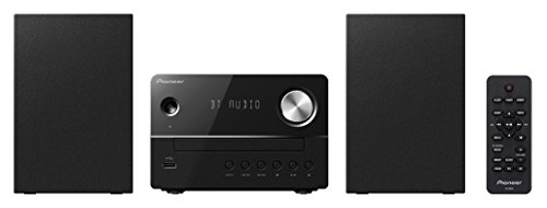 Pioneer X-EM26(B) Fernbedienbares Microsystem (Bluetooth, CD, FM-Radio, MP3-USB und Weckfunktion) Schwarz
